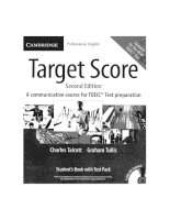 Target score 2nd edition a communicative course for TOEIC test preparation