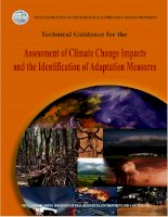 Technical guidance for the assessment of climate change impacts and the identification of adaptation measures