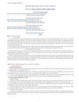 Một số đề luyện tập và gợi ý làm bài   môn văn 12