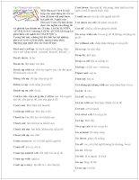 List Phrasal verbs in English