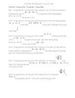 CHUYÊN đề HÌNH học tọa độ OXY vinh (autosaved)