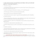 Lý thuyết Saccarozơ, tinh bột và xenlulozơ