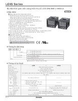 BỘ đặt THỜI GIAN nền SÁNG HIỂN THỊ số LCD DIN W48XH48MM