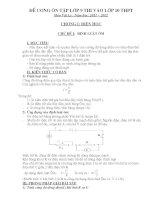 đề cương ôn tập lớp 9 thi vào lớp 10 THPT môn vật lý năm học 2011   2012