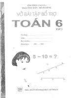 VỞ bài tập TOÁN lớp 6 tập 1 tôn THÂN