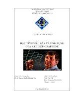 đặc tính siêu dẫn và ứng dụng của vật liệu graphene