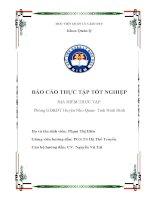 Báo cáo thực tập tốt nghiệp tại Phòng GDĐT Huyện Nho Quan Tỉnh Ninh Bình
