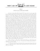 Chuyên đề 1 PHÁP LUẬT về KINH tế và LUẬT DOANH NGHIỆP