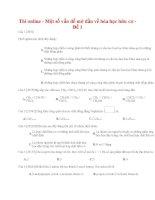 Một số vấn đề mở đầu về hóa học hữu cơ