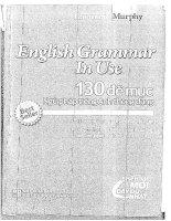 ENGLISH GRAMMAR IN USE 130 đề mục NGỮ PHÁP TIẾNG ANH THÔNG DỤNG PHIÊN bản mới đầy đủ NHẤT năm 2015