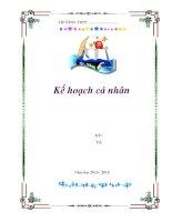 mẫu bìa đẹp cho kế hoạch cá nhân hoặc SKKN