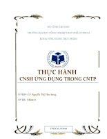 Báo cáo thực hành CNSH ứng dụng trong CNTP