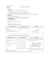 Giáo án toán 11  tự chọn 7 bài tập PHÉP vị tự