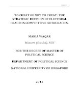 To cheat or not to cheat the strategic decision of electoral fraud in competitive autocracies