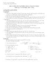 đề cương ôn tập toán học kỳ 2 lớp 11 (chuẩn) giải tích hình học