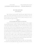 Đề cương giới thiệu luật phá sản 2014