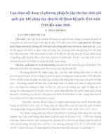 LỰA CHỌN vấn đề dạy và PHƯƠNG PHÁP ôn tập CHO học SINH GIỎI QUỐC GIA KHI GIẢNG dạy CHUYÊN đề QUAN hệ QUỐC tế từ năm 1919 đến năm 2000 (2)