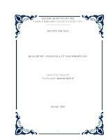 Quan hệ mỹ   venezuela từ năm 1998 đến nay  luận văn ths