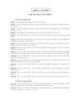 câu hỏi và đáp án địa lí 12 theo ma trận cả năm
