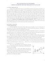 BÀI TOÁN PHƯƠNG án THÍ NGHIỆM TRONG các đề THI CHỌN học SINH GIỎI vật lý các cấp