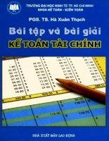 Ebook Bài tập và bài giải kế toán tài chính: Phần 1