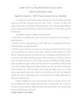 PHÉP vị tự và ỨNG DỤNG GIẢI các bài TOÁN CHỨNG MINH HÌNH học