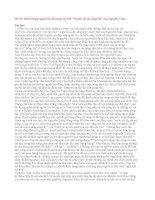 """Đề 40: Hình tượng người lái đò trong tuỳ bút """" Người lái đò sông Đà"""" của Nguyễn Tuân."""