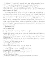 CHUYÊN đề  vận DỤNG lý THUYẾT HOÁ học PHÂN TÍCH để GIẢI các bài TOÁN cân BẰNG OXI HOÁ KHỬ TRONG DUNG DỊCH