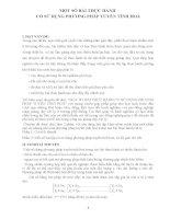 MỘT số bài THỰC HÀNH có sử DỤNG PHƯƠNG PHÁP TUYẾN TÍNH HOÁ