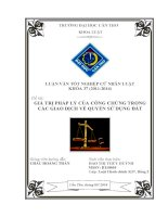 giá trị pháp lý của công chứng trong các giao dịch về quyền sử dụng đất