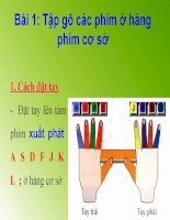 Bài 1: Tập gõ các phím ở hàng phím cơ sở