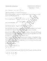 đề thi thử môn toán 2016