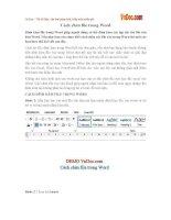 Cách chèn file trong Word