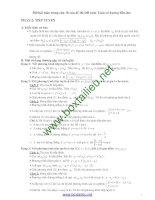 500 bài toán phụ khảo sát hàm số có đáp án chi tiết ôn thi THPT quốc gia