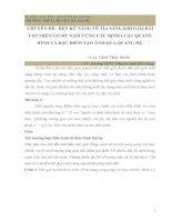 CHUYÊN đề  rèn kỹ NĂNG vẽ TIA SÁNG KHI GIẢI bài tập TRÊN cơ sở  nắm VỮNG các ĐỊNH LUẬT QUANG HÌNH và đặc điểm tạo ẢNH QUA QUANG hệ