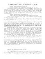 Bài phát biểu của giáo viên nhân ngày 20 tháng 11