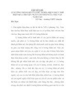 LÍ TƯỞNG THẨM mĩ của CHỦ NGHĨA HIỆN THỰC THỂ HIỆN QUA TRUYỆN NGẮN CHÍ PHÈO của NHÀ văn NAM CAO
