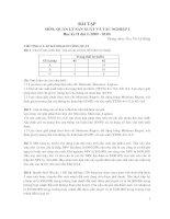 bài tập môn quản lý sản xuât và tác nghiệp 1