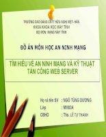 An Ninh Mạng Và Kỹ Thuật Tấn Công Web Server