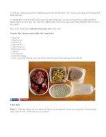 Cách nấu xôi gà hạt sen cho bữa sáng