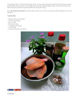 Tự làm gà nướng sốt Teriyaki kiểu Nhật