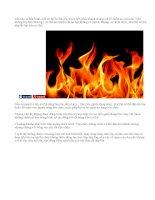 Cách cấp cứu bản thân khi gặp tai nạn về lửa