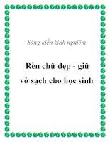 skkn rèn chữ đẹp   giữ vở sạch cho học sinh