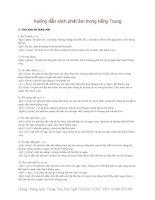Hướng dẫn cách phát âm trong tiếng Trung