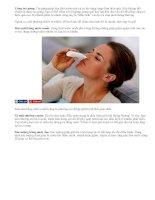 Bí quyết chữa nghẹt mũi tại nhà