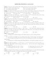 Đề trắc nghiệm chương 1 vật lý 11