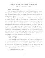 MỘT VÀI PHƯƠNG PHÁP GIẢI BÀI TẬP DI TRUYỀN  HỌC QUẦN THỂ SINH HỌC 12