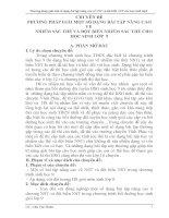 PHƯƠNG PHÁP GIẢI MỘT SỐ DẠNG BÀI TẬP NÂNG CAO VỀ          NHIỄM SẮC THỂ VÀ ĐỘT BIẾN NHIỄM SẮC THỂ CHO HỌC SINH LỚP  9