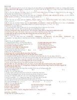 Tuyển tập các câu hỏi trắc nghiệm lý thuyết môn hóa ôn thi đại học