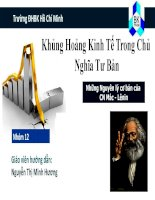 Thuyết trình Mác Lê Nin: kHỦNG HOẢNG KINH TẾ CỦA CHỦ NGHIÃ TƯ BẢN